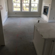 Preparing to level concrete slab floor