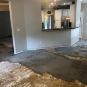 leveling concrete slab subfloor for LVP
