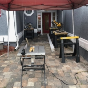 Our patio workshop for this LVP project