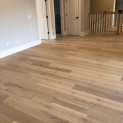 Winter Oak plank flooring installed