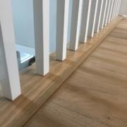 Winter Oak plank flooring installed