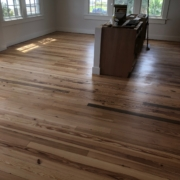 Finishing heart pine flooring