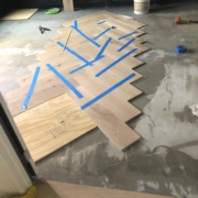 Installing French Oak flooring - herringbone pattern