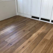 Installed 8 inch wide, French White Oak plank flooring