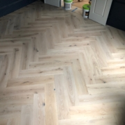 French Oak flooring in herringbone pattern