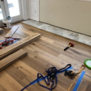 Installing 8 inch wide, French White Oak plank flooring