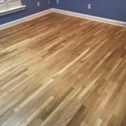 Refinished 3 inch wide white oak flooring