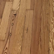Sanded heart pine flooring-detail