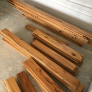 Assorted lengths of Australian Cypress flooring