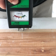 Checking moisture in flooring