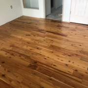 Installed Australian Cypress flooring