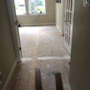 Installing birch flooring