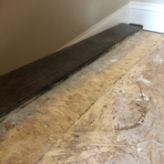 Installing birch flooring - top of the stairs