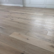 "7 1/2"" wide engineered White Oak flooring"