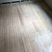 Applying Pallmann Whiteseal to Heart Pine flooring