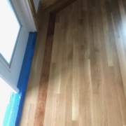 Finished White Oak floor with Cherry border