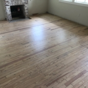 Refinished and whitewashed Heart Pine floors