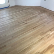 White Oak flooring with Cherry border - sanded