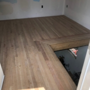 White Oak flooring and Cherry border - installed