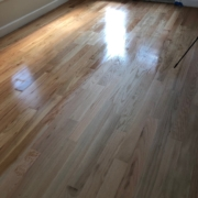Stain and finish Oak flooring.