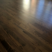 Stained and finished Oak flooring.