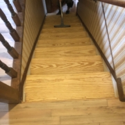 White Oak stair treads - refinished