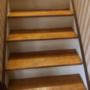 White Oak stair treads - pre-refinishing