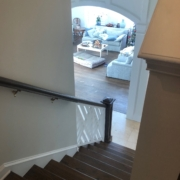 Refinished stairs and handrails.