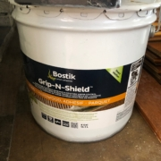 Bostik Grip-N-Shield flooring adhesive.