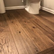 Hickory hardwood flooring - installed.