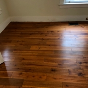 Solid Acacia wood flooring - installed.