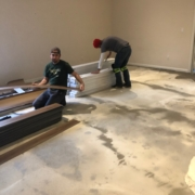 Installing Luxury Vinyl Plank flooring.
