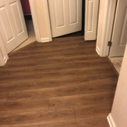 Luxury Vinyl Plank flooring - installed.