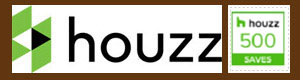 houzz logo with 500 Saves button