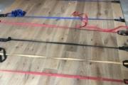 Installing White Oak flooring.