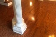 "Old, 3"" wide Red Oak flooring."