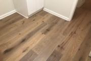 "7 1/2"" engineered White Oak flooring installed."