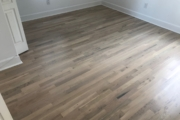 Finished solid White Oak flooring.