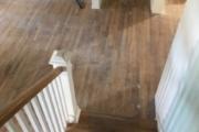 Oak stairs pre-sanding.