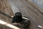 Staining solid White Oak flooring.