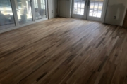 Staining solid White Oak flooring.
