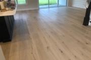 "9 1/2"" wide European Oak flooring installed."