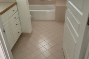 Existing tile flooring.