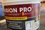 Fusion Pro grout.