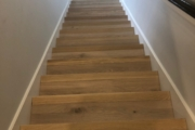 European Oak flooring on stairway.