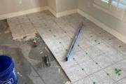 Installing Alhambra Marengo tile.