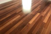 Sapele Mahogany flooring installed.