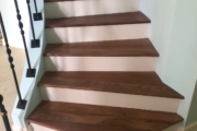 Sapele Mahogany stair treads.