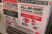 Tuscan TruSpace tile leveler-spacer.