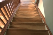 Hickory stair treads - installed.